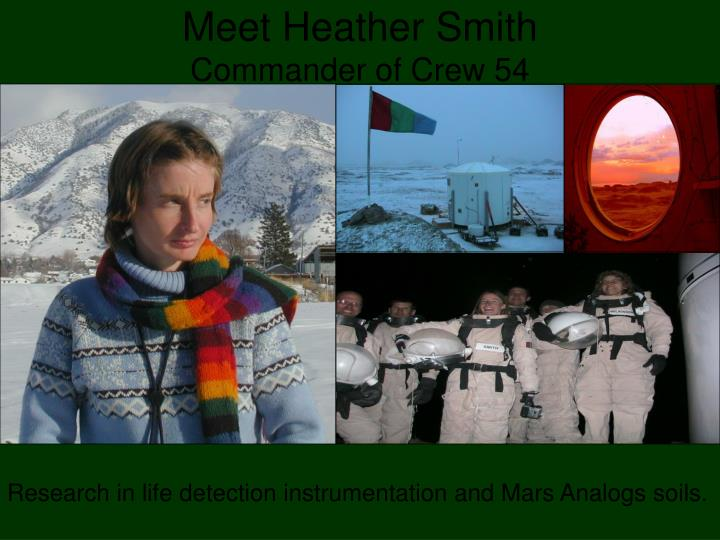 Meet heather smith commander of crew 54