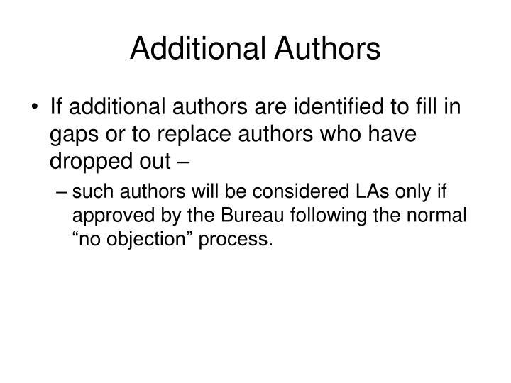 Additional Authors