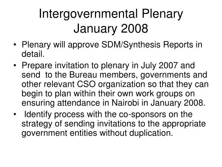 Intergovernmental Plenary