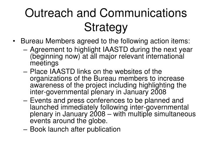 Outreach and Communications Strategy