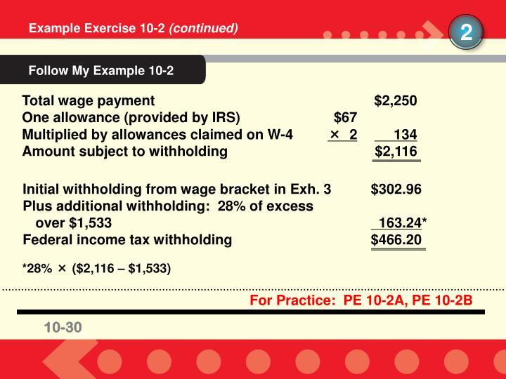 Follow My Example 10-2