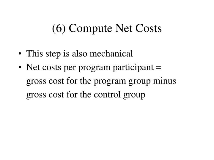 (6) Compute Net Costs