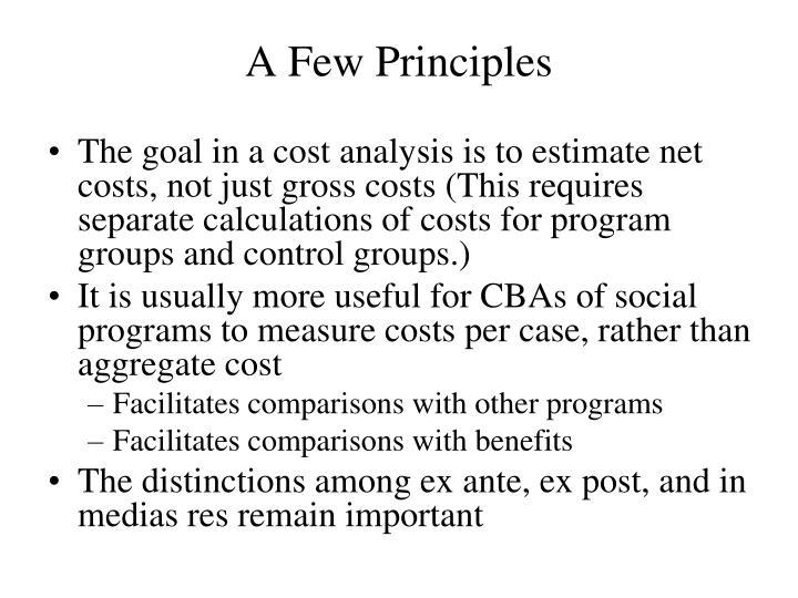 A Few Principles
