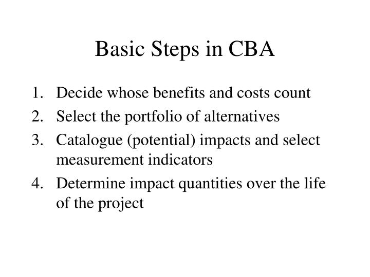Basic Steps in CBA