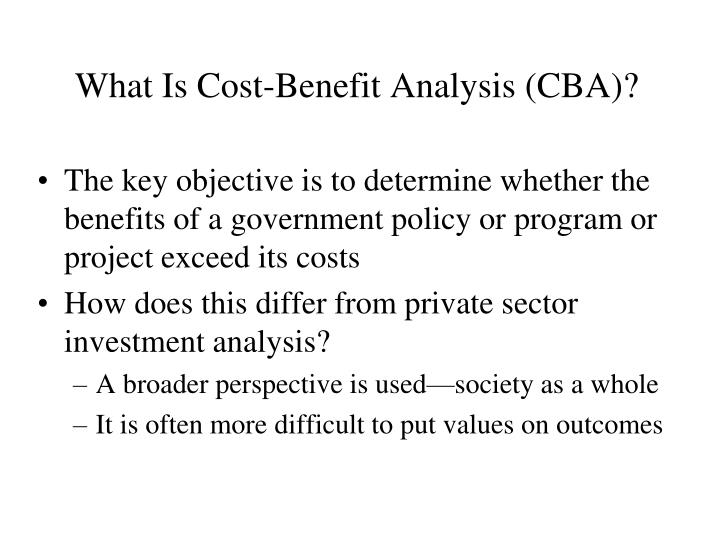 What is cost benefit analysis cba