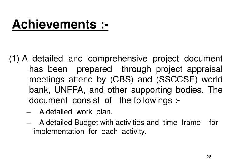 Achievements :-