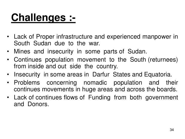 Challenges :-