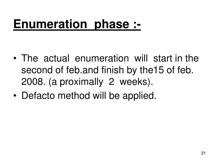 Enumeration  phase :-