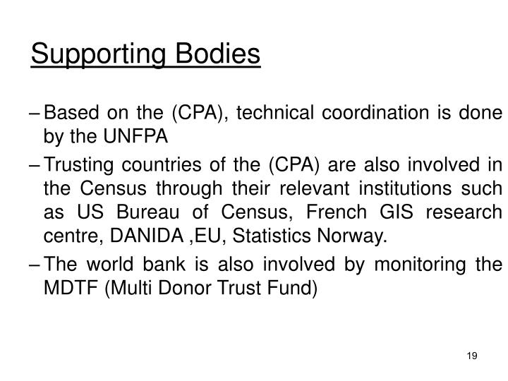 Supporting Bodies