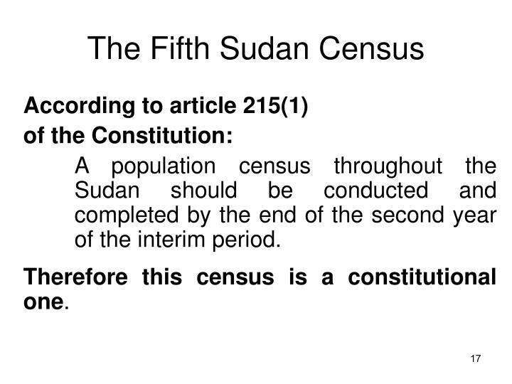The Fifth Sudan Census