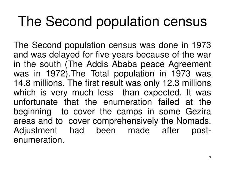 The Second population census