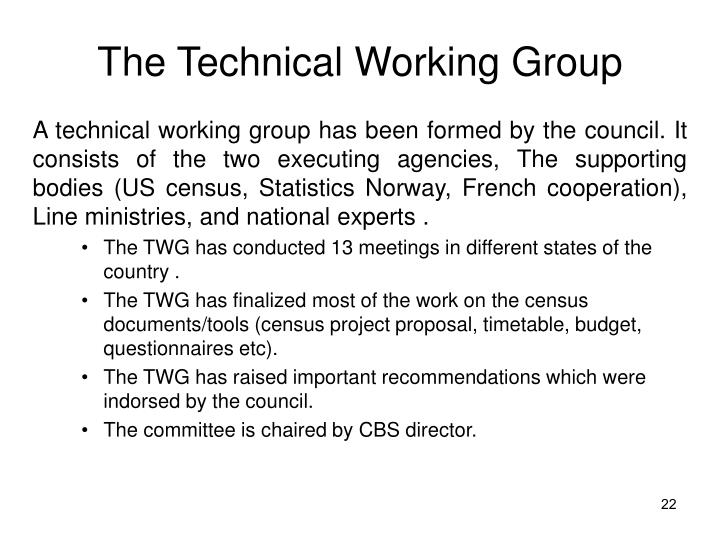 The Technical Working Group