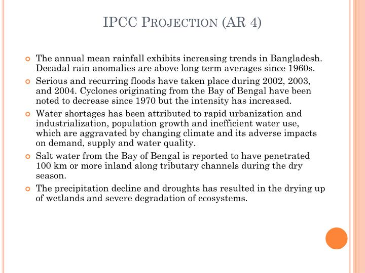 IPCC Projection (AR 4)