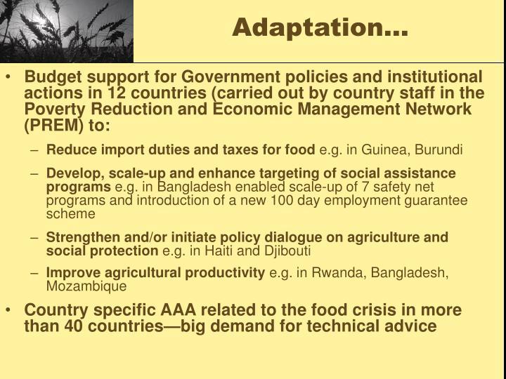 Adaptation…