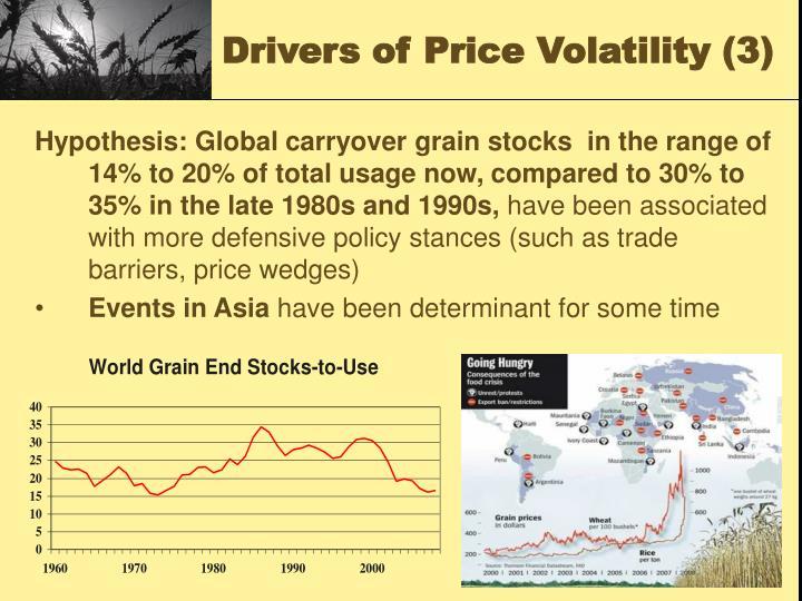 Drivers of Price Volatility (3)