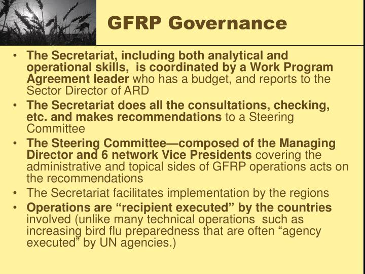 GFRP Governance