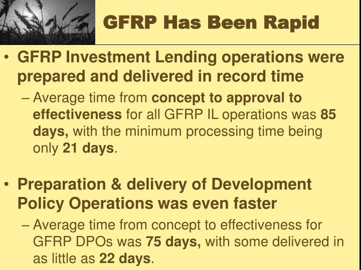 GFRP Has Been Rapid