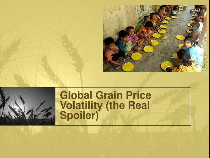 Global Grain Price Volatility (the Real Spoiler)