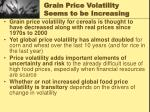 grain price volatility seems to be increasing