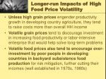 longer run impacts of high food price volatility