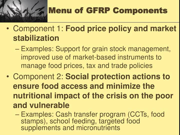 Menu of GFRP Components