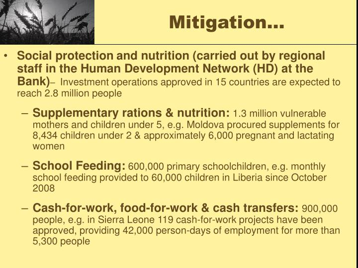 Mitigation…