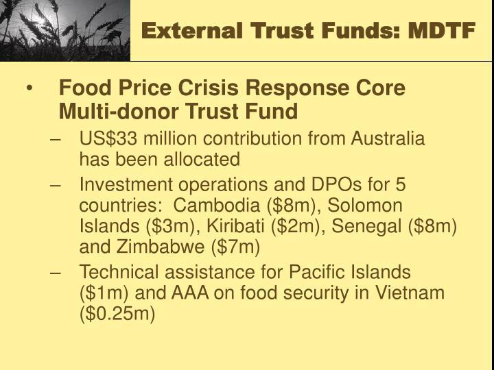 External Trust Funds: MDTF
