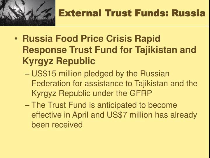 External Trust Funds: Russia