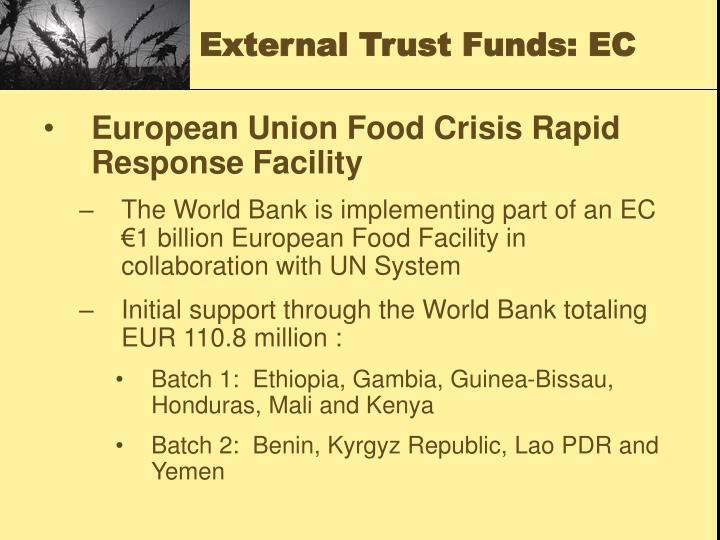 External Trust Funds: EC
