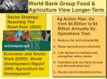 world bank group food agriculture view longer term