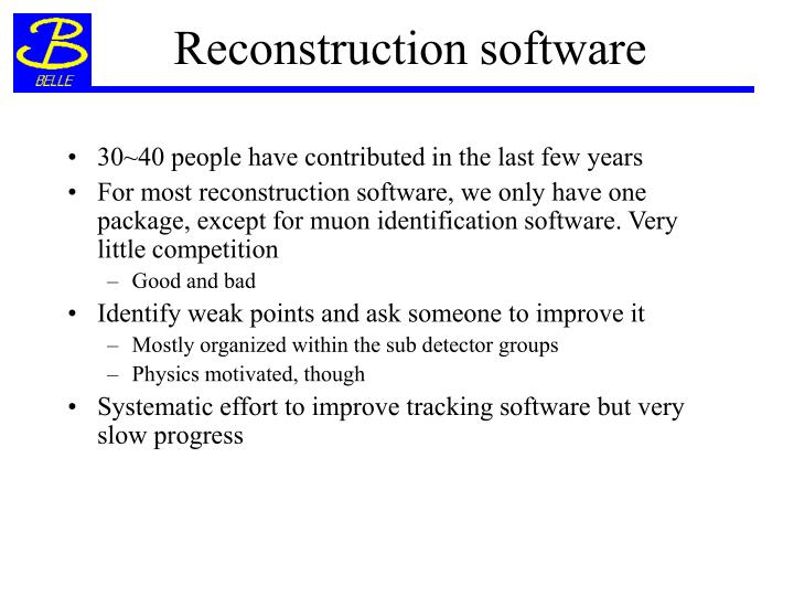 Reconstruction software