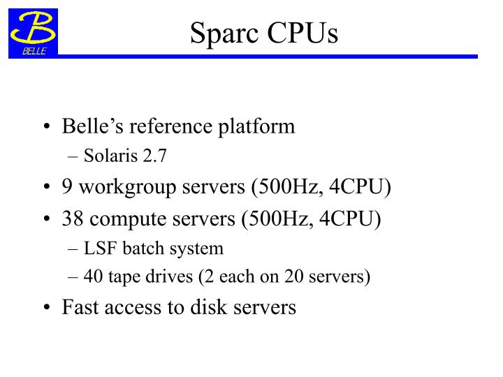 Sparc CPUs