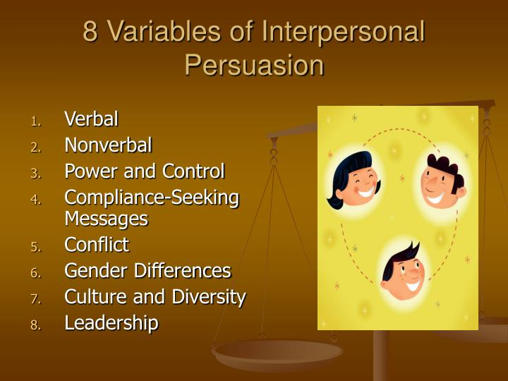 8 Variables of Interpersonal Persuasion