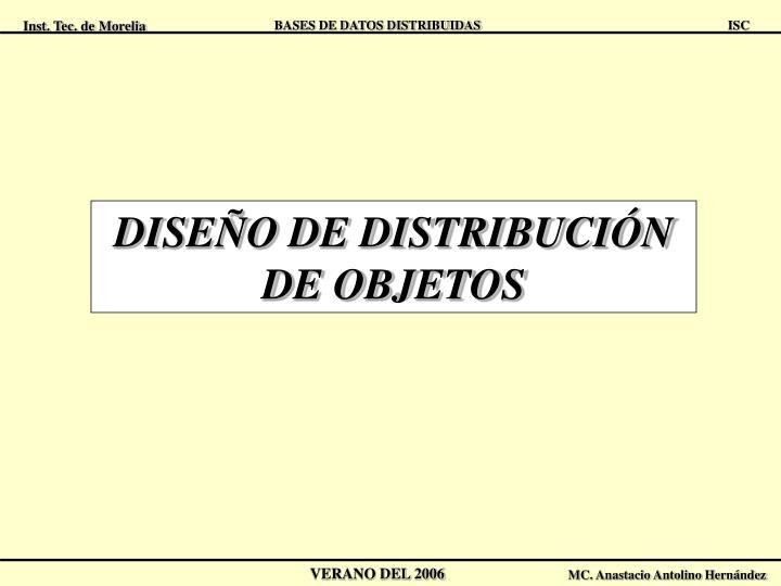 DISEÑO DE DISTRIBUCIÓN DE OBJETOS