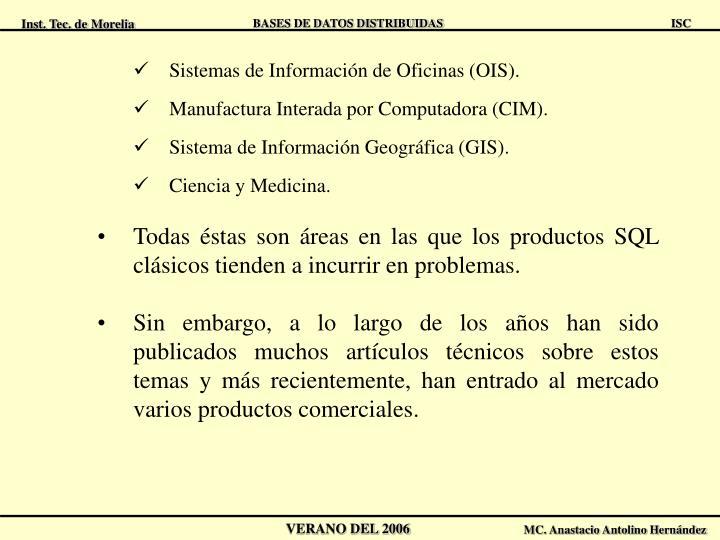Sistemas de Información de Oficinas (OIS).