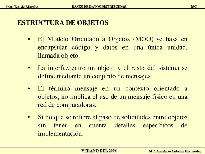 ESTRUCTURA DE OBJETOS