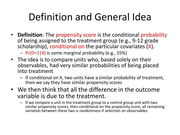 Definition and General Idea
