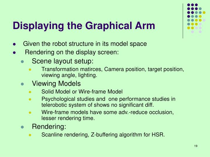 Displaying the Graphical Arm