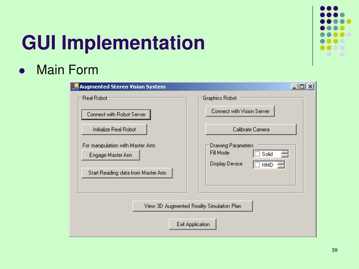 GUI Implementation