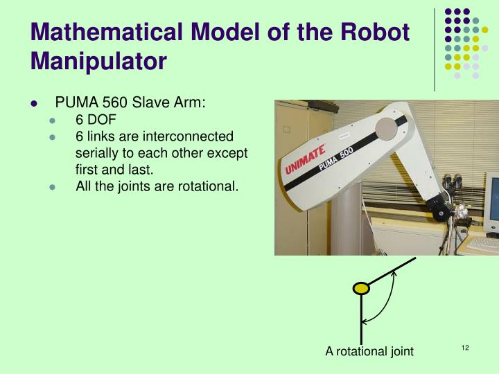 Mathematical Model of the Robot Manipulator