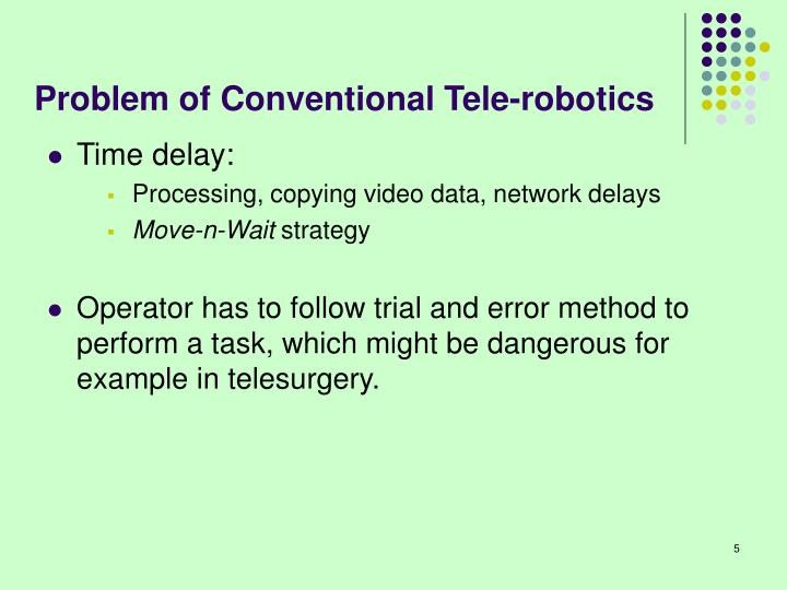 Problem of Conventional Tele-robotics
