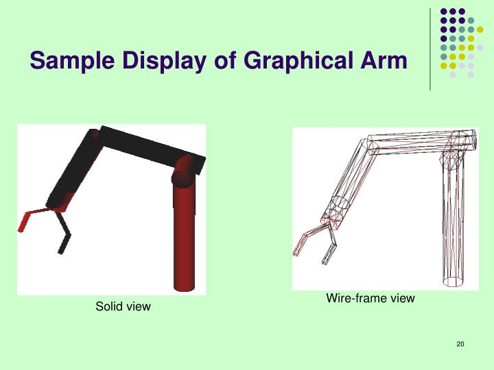 Sample Display of Graphical Arm
