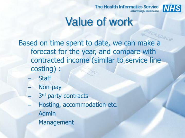 Value of work
