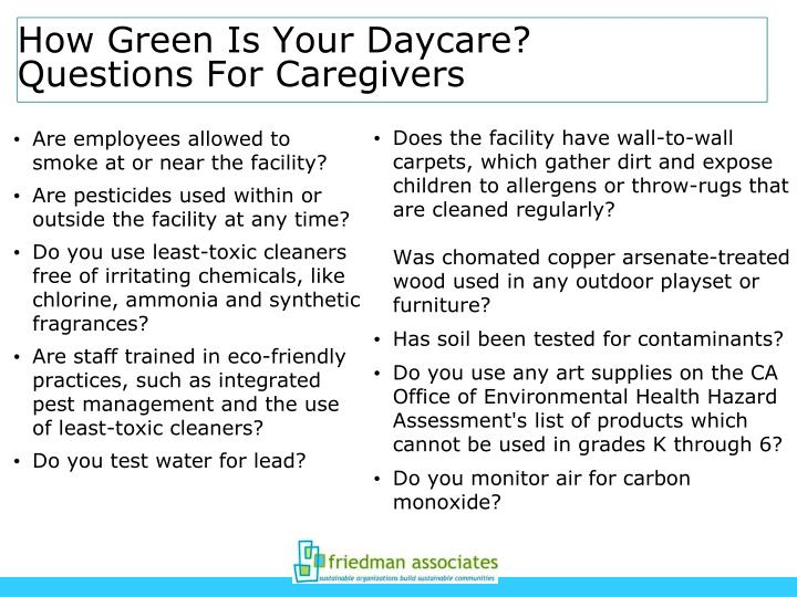 Does the facility have wall-to-wall carpets, which gather dirt and expose children to allergens or throw-rugs that are cleaned regularly?