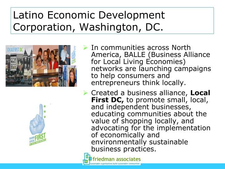 Latino Economic Development Corporation, Washington, DC.