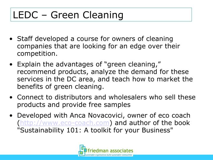 LEDC – Green Cleaning
