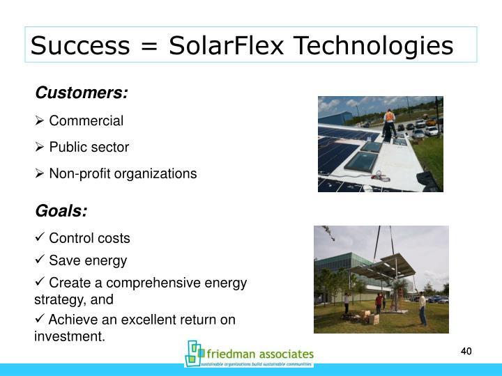 Success = SolarFlex Technologies