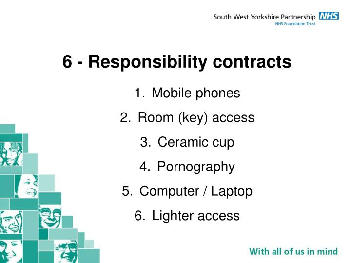 6 - Responsibility contracts