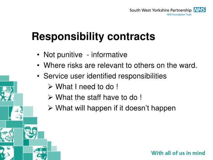 Responsibility contracts