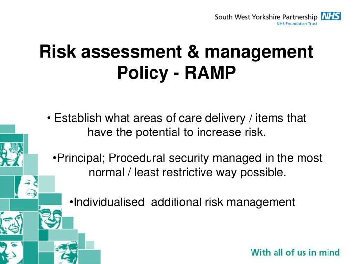 Risk assessment & management Policy - RAMP